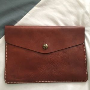 Patricia Nash leather clutch